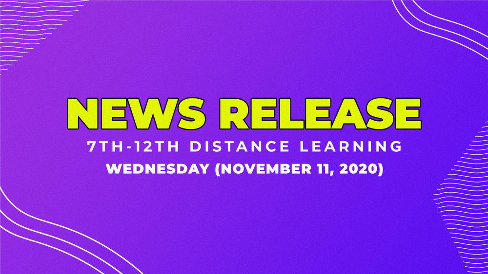 7th-12th Distance Learning Until Thanksgiving Break