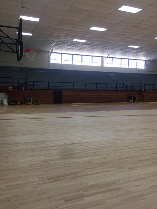 updating seating and gym floor