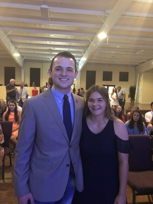 Tyler and Autumn at the AFR Youth Leadership Summit Banquet