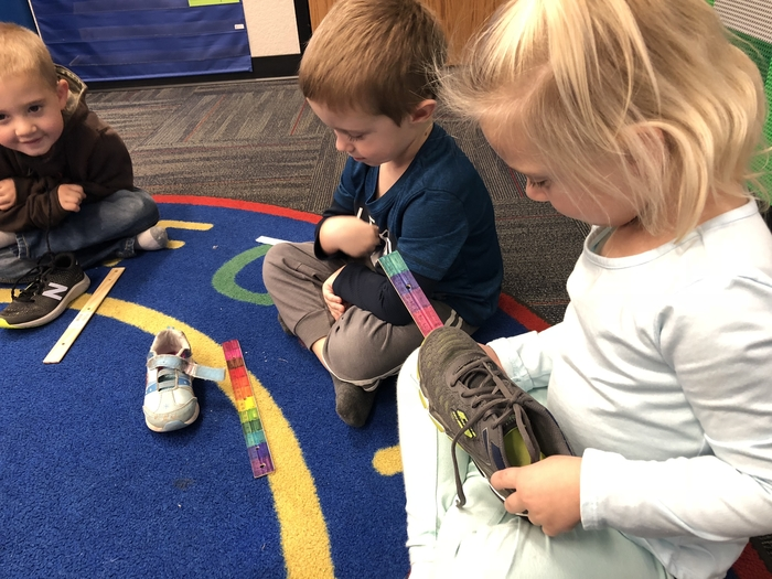 Measuring shoes!