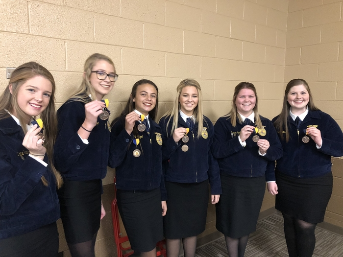 Congrats to these young ladies for winning 3rd at the Chickasha Regional Opening ceremonies contest