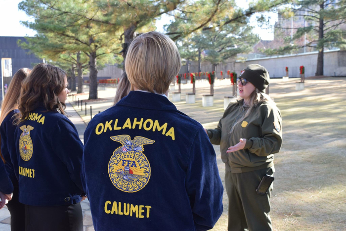 FFA Officers visited the OKC Memorial