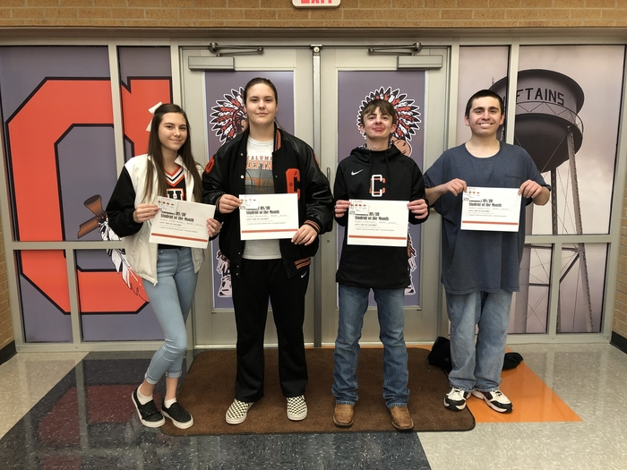 Calumet January Students of the Month