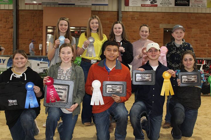Raven wins the SW Regional Team Purebred Sweepstakes