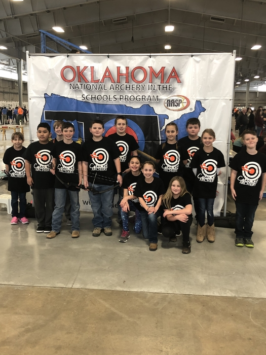 Elementary at the state archery shoot.