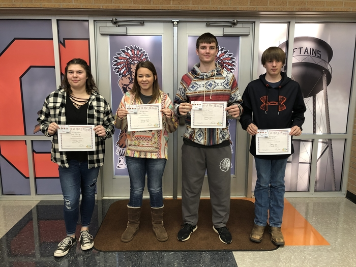 February Students of the Month at HS