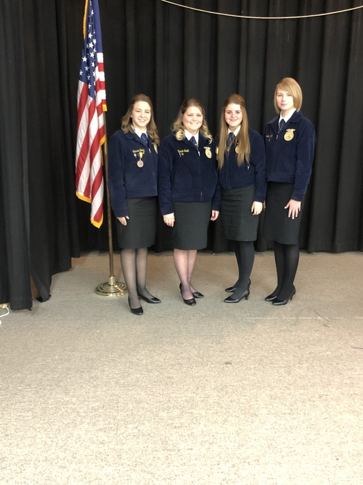 Proud of these ladies, had a great night at Rush Springs FFA speech contest!