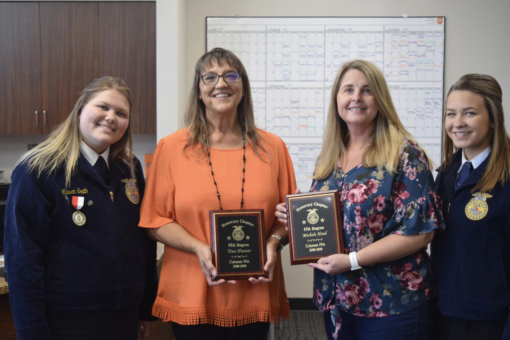 Honorary FFA Degree goes to Tina and Michele, thank you ladies!
