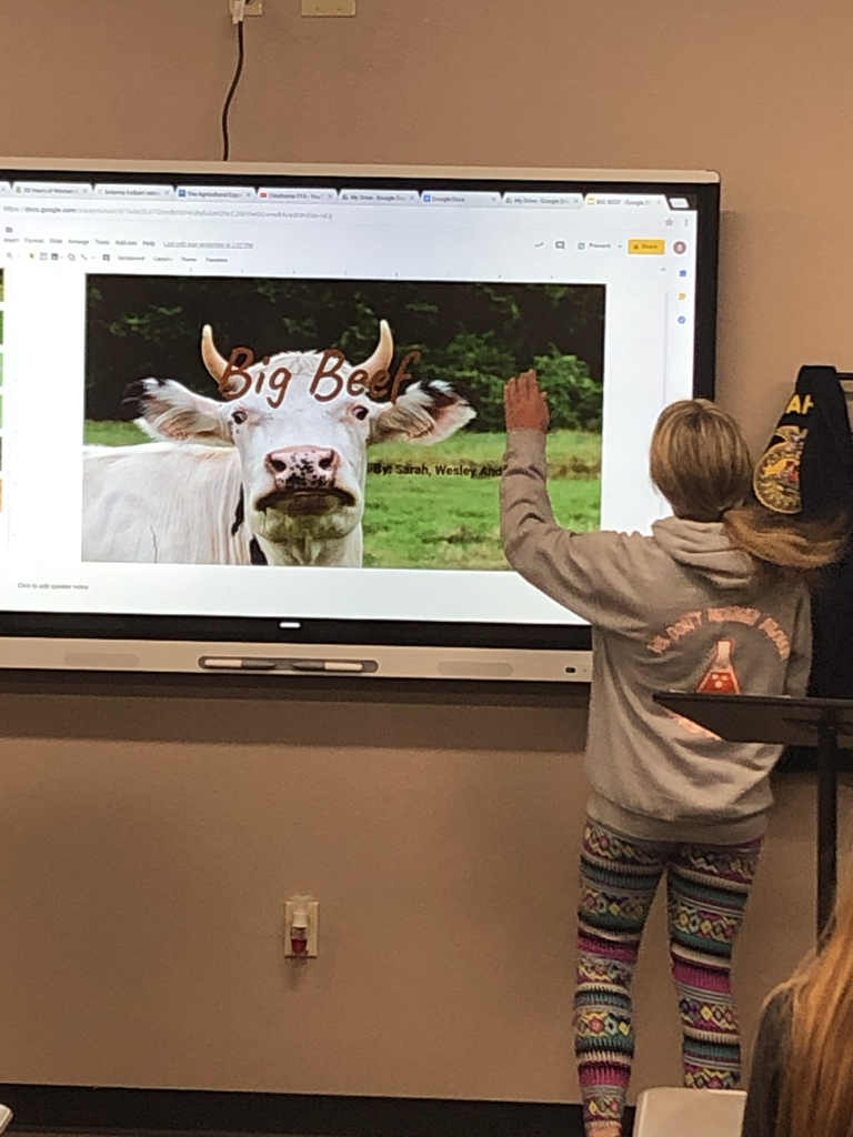 Using the new smart board and google slides