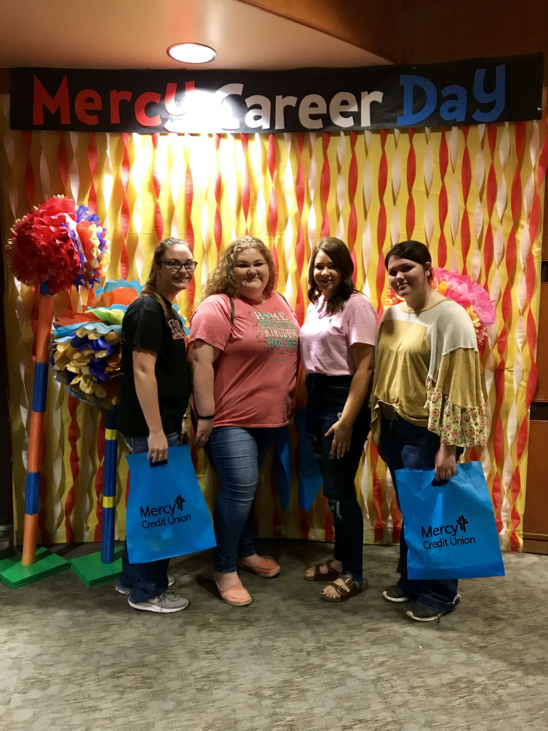 Students at Mercy Career Day