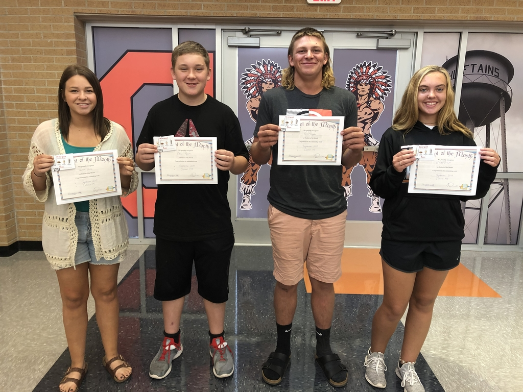 Calumet HS Students of the Month for September