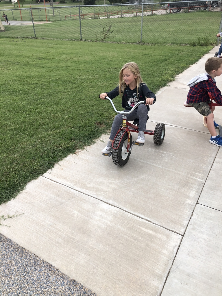 Trying out the trikes.