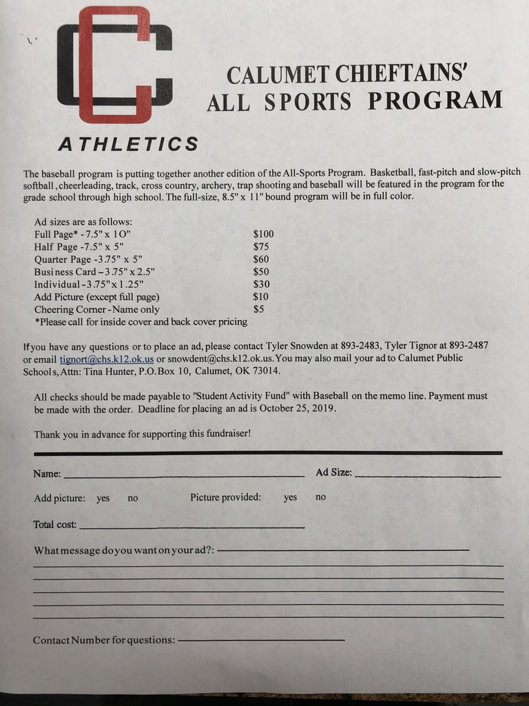 All sports program ads