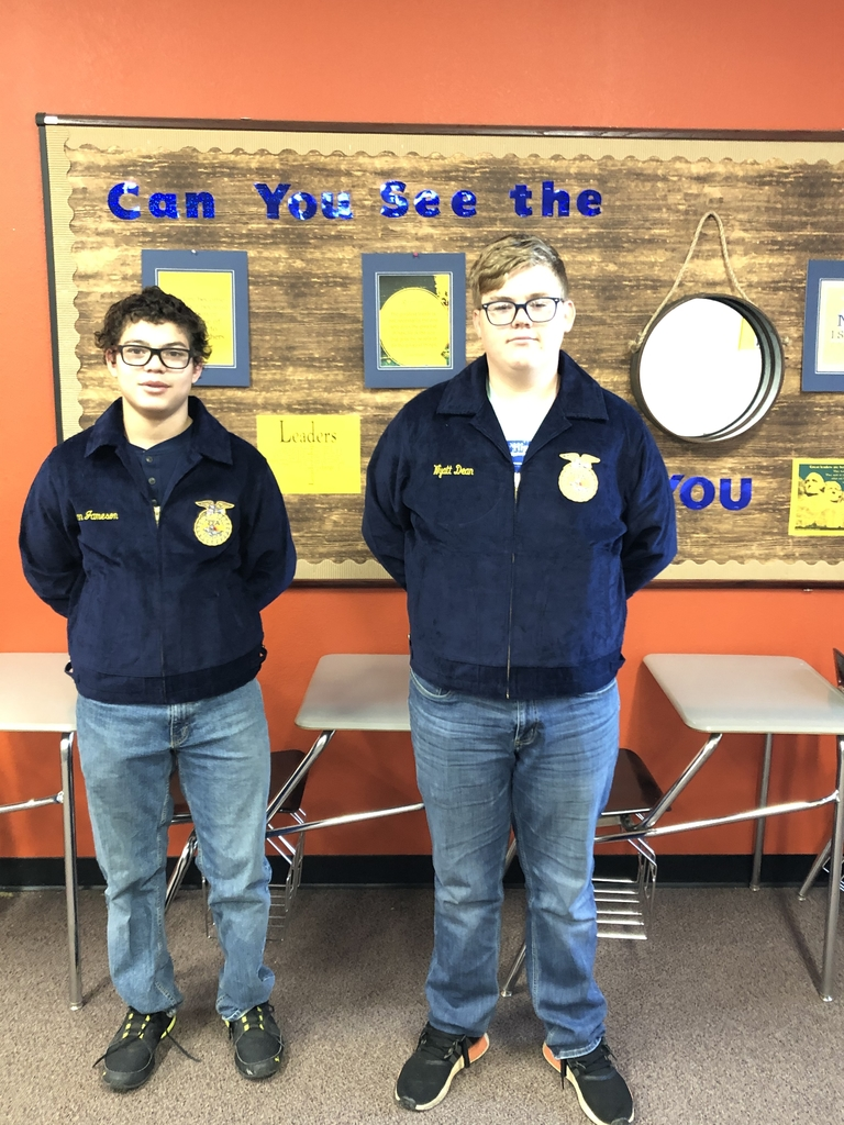 Looking sharp in their new FFA Jackets