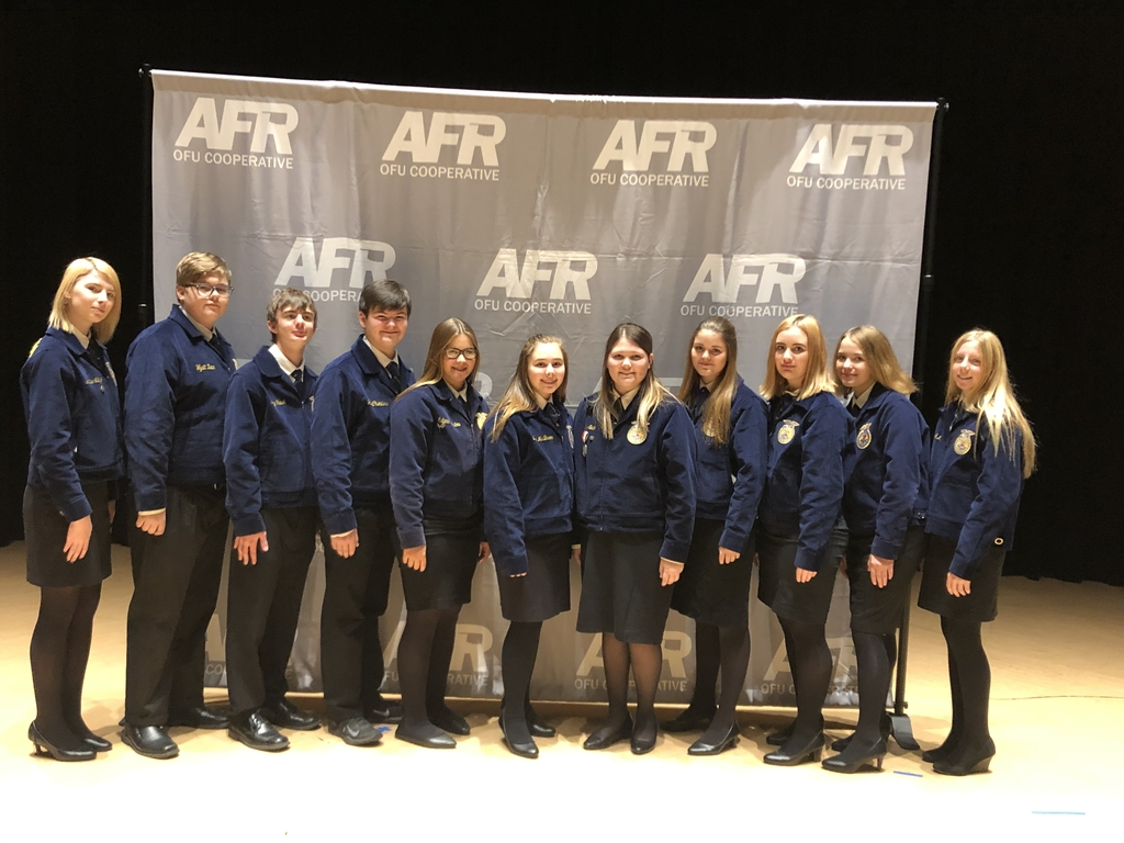 Calumet FFA representing at the STATE AFR Speech contest