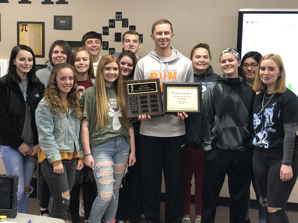 Congratulations to Kyle Axton for being chosen as HS Teacher of the Year.