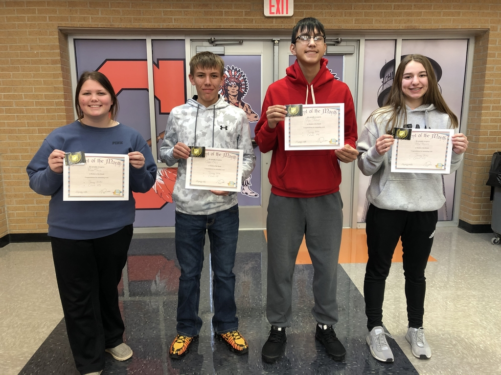 HS students of the month for January