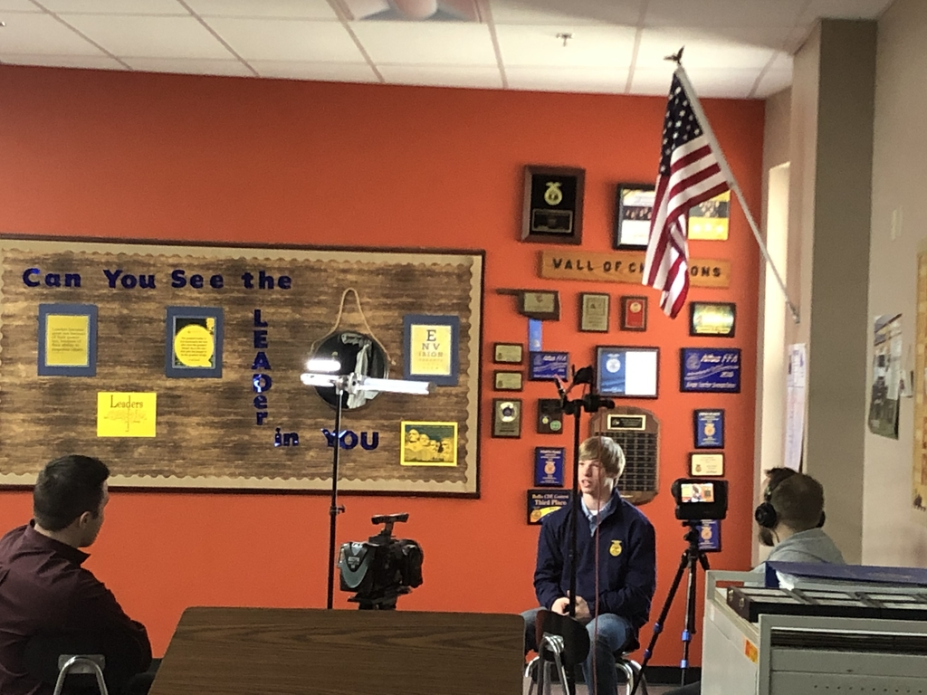 Jake is being interviewed for State FFA Convention