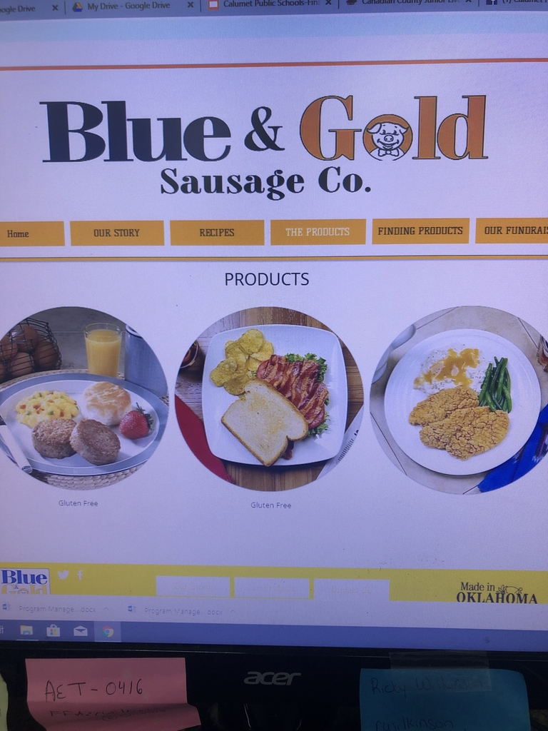 Calumet FFA is selling Blue and Gold Sausage and orders are due this week!