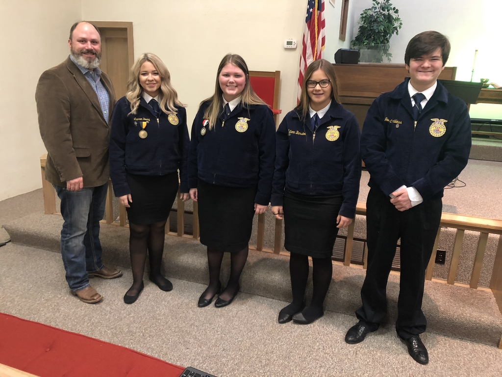 We kicked off National FFA week this morning at the Methodist Church.