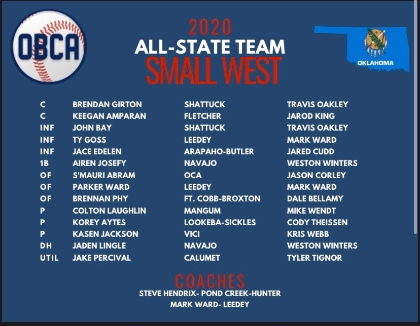 All State West Baseball Team